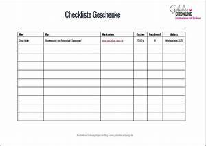 Wohnung Putzen Checkliste : checkliste weihnachtsgeschenke kostenloser download ~ Lizthompson.info Haus und Dekorationen