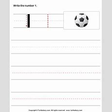 Learn To Write Numbers Worksheet  Turtle Diary