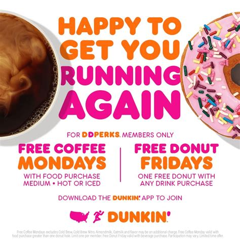 Dunkin' donuts offers guests a free medium iced coffee all day on monday, aug. Get Free Coffee on Mondays and Free Donuts on Fridays at Dunkin Donuts