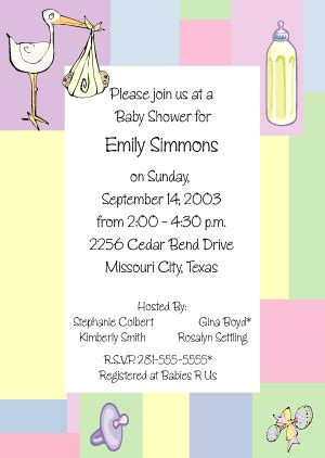 template special baby shower invitation wordings