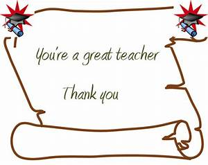 Best Photos of Teacher Appreciation Thank You Cards - Free ...