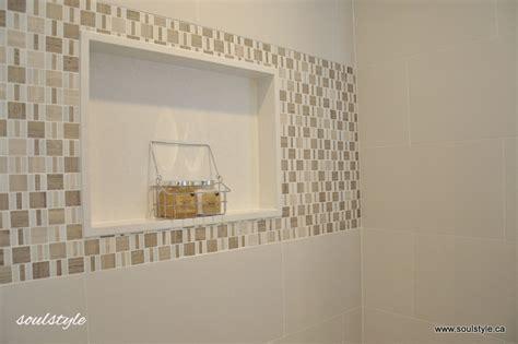Quartz shower wall niche   soulstyle Interiors and Design