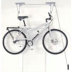 ceiling bike hoist in ceiling bike storage