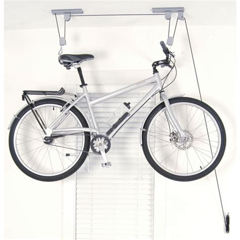 ceiling bike hoist in ceiling bike storage