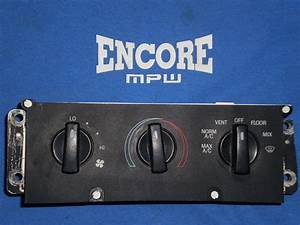 1990 C Heater Controls Switch Panel