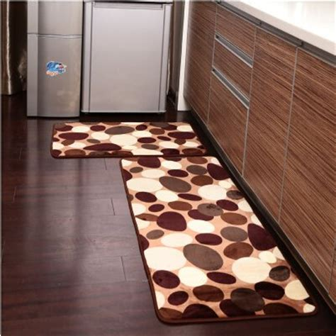 ustide  piece coffee stone flower kitchen rug set soft