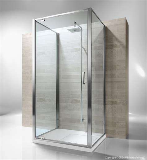 Duschkabine 3 Seitig by Framed 3 Sided Shower Enclosure With Pivoting Door