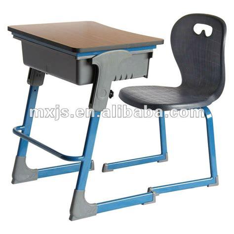 modern adjustable height children desk and chair view