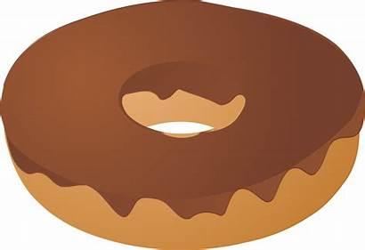 Donut Clipart Cartoon Doughnut Brown Chocolate Clip