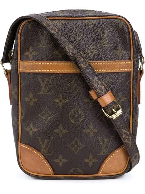 louis vuitton danu monogrammed cross body bag  brown lyst