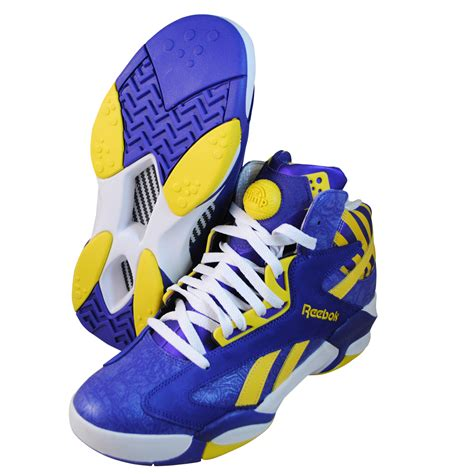 reebok shaq attaq team basketball reebok mens shaq attaq purple basketball shoes m40343