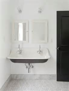 kohler brockway sink transitional bathroom corcoran