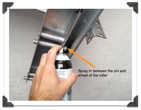lubricating garage door tip tuesday savvy garage door maintenance