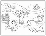 Coloring Diving Pages Diver Printable sketch template