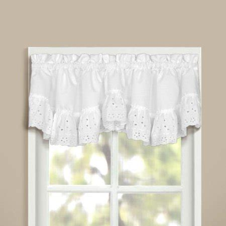 20 Inch Valances by United Curtain Vienna Lace Crescent Valance 60 By