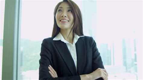 Young Happy Beautiful Businesswoman Wearing Formal Suit