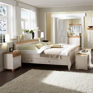 Bett Massivholz Weiß : bett doppelbett bettrahmen mit 2 schubladen 180x200 massivholz wei antik ~ Indierocktalk.com Haus und Dekorationen