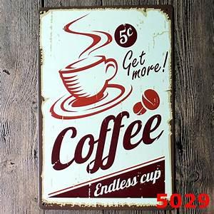 Plaque Vintage Metal : coffee vintage retro metal tin sign poster plaque bar pub club home wall decor ebay ~ Teatrodelosmanantiales.com Idées de Décoration