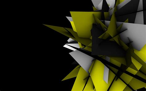 Abstract Cool Geometric Shapes by Abstract Shapes Geometry Digital Black Background