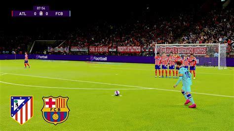 ATLETICO MADRID vs FC BARCELONA   LIONEL MESSI AMAZING ...