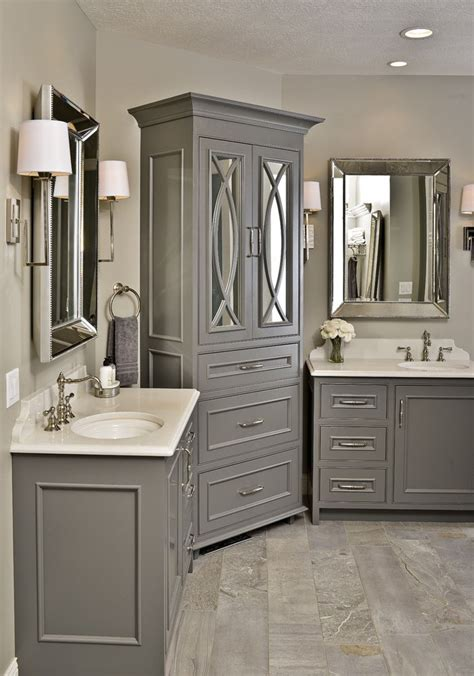 grey bathroom cabinets ideas  pinterest grey
