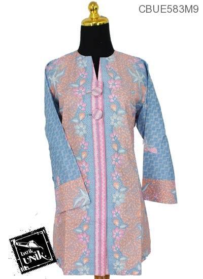 batik tunik parang soft blus tunik zilla trikot motif parang kawung sekar warna