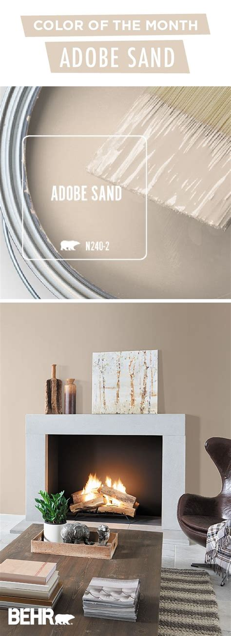 we re loving the behr 174 paint color of the month adobe sand this light shade of beige creates a