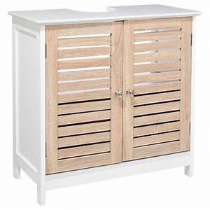 Meuble Sous Lavabo But : meuble sous lavabo patine blanc ~ Dode.kayakingforconservation.com Idées de Décoration