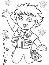 Go Coloring Diego Pages Printable Cartoon Bright Choose Colors Favorite sketch template