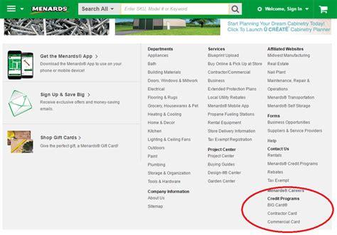 Menards big card customer service: Menards Credit Card Application - CreditCardMenu.com