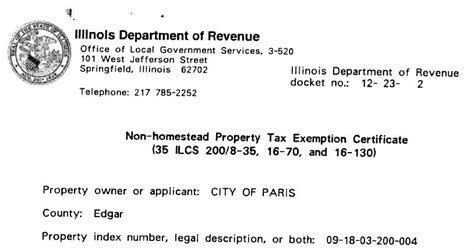 cook county tax exemption forms illinois department of revenue