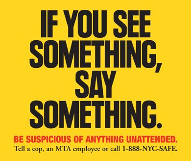 Mta  News  If You See Something, Say Something