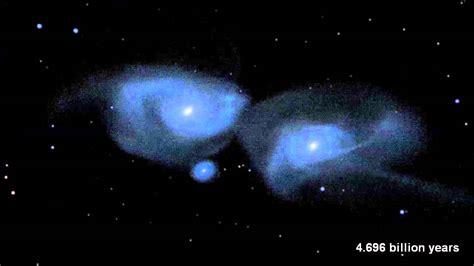 Milky Way Andromeda Galaxies Collision Simulated