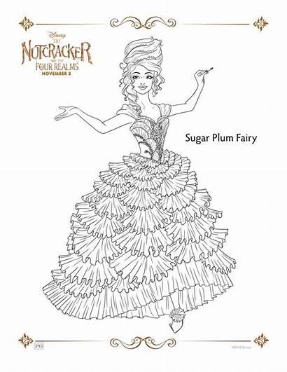 Plum Sugar Fairy Nutcracker Coloring Pages Realms