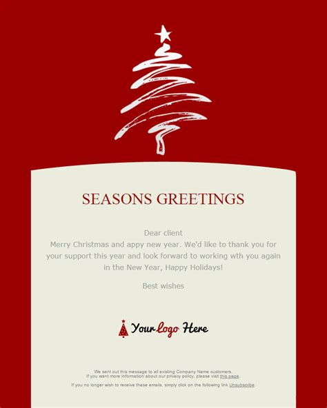 christmas   year email templates