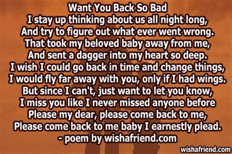 bad missing  poem