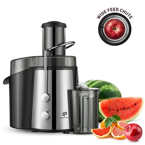 juice extractor juicer fruits professional jus legumes centrifugal komforts kitchen opening wide power extracteur inox two setting speed clean easy