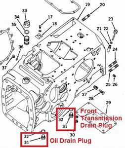 John Deere 730 Transmission Fluid Drain Plugs