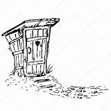 Toilet Coloring Template Outhouse sketch template