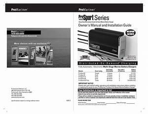 Promariner Prosport 1 5 Amp Portable Maintainer Manual