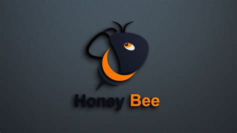 bee logo template design graphicsfamily