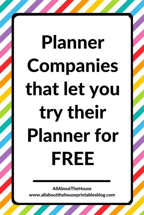 Planner companies that will let you download, print and