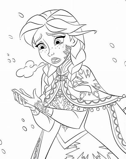 Disney Pages Coloring Walt Princess Anna Characters