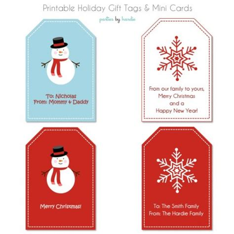 holiday gift tags and mini cards free printable tip junkie