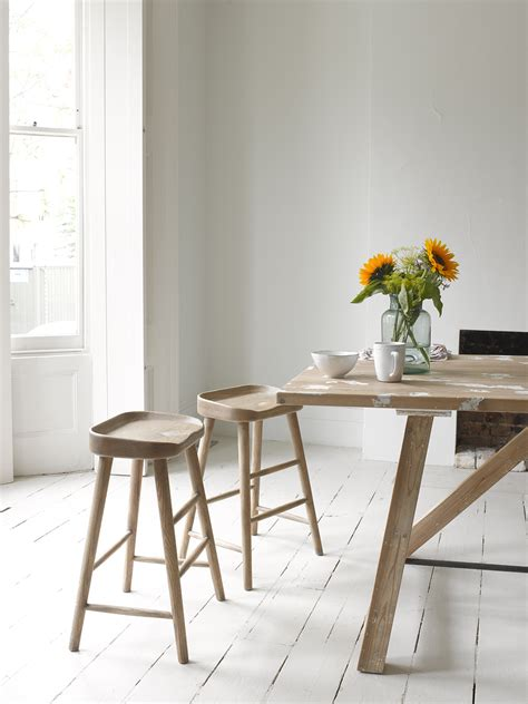 Kitchen Stools by Solid Oak Kitchen Stool Bumble Loaf