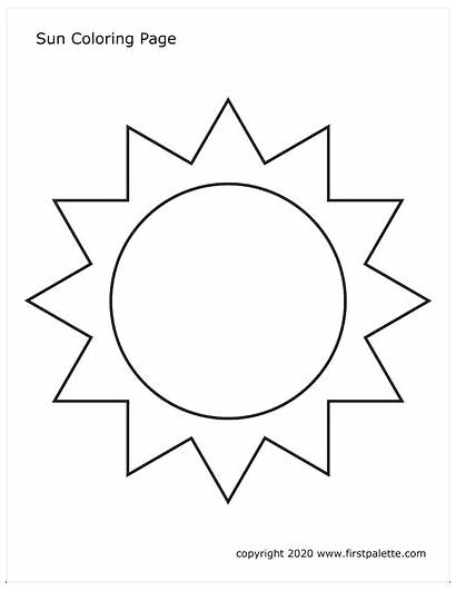 Sun Printable Moon Coloring Template Firstpalette Templates