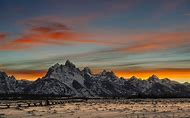 Snowy Mountain Landscape Sunset