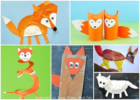 cute fox crafts  kids easy peasy  fun