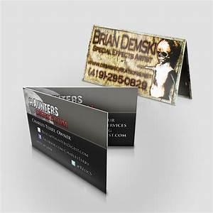 Folded business cards jakprints inc for Jakprints business cards
