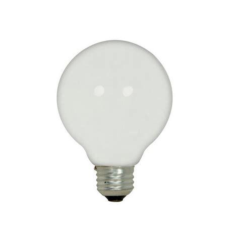 satco 43w 120v g25 globe white halogen light bulb e26